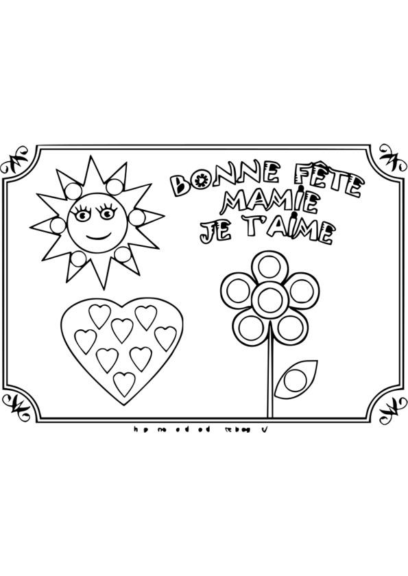Coloriage carte fete des peres a imprimer - Dessin pour maman anniversaire ...