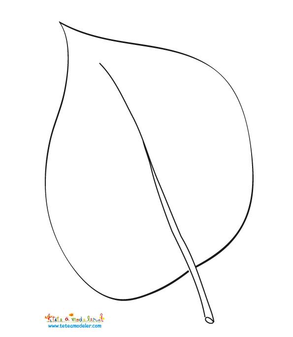 coloriage à dessiner feuille de vigne
