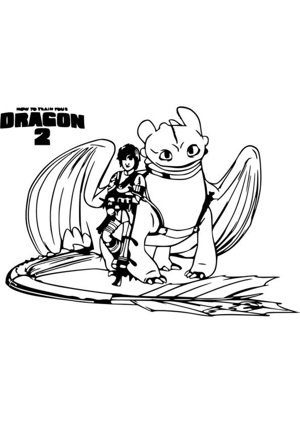 Coloriage De Dragon Le Film A Imprimer