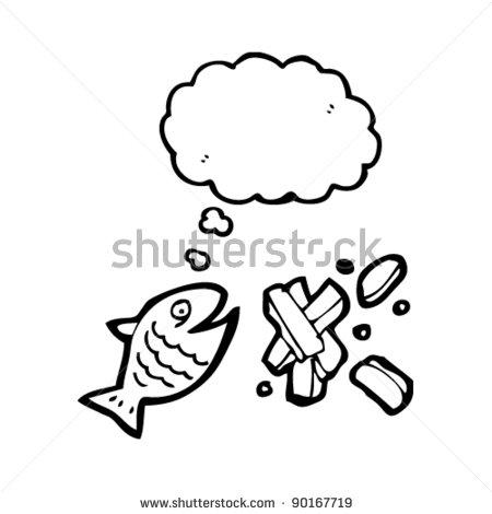 coloriage de fish n chips