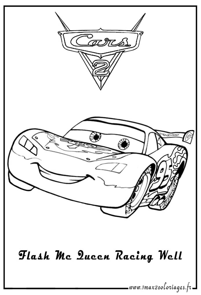 Coloriage flash mcqueen en ligne gratuit - Jeu gratuit cars flash mcqueen ...
