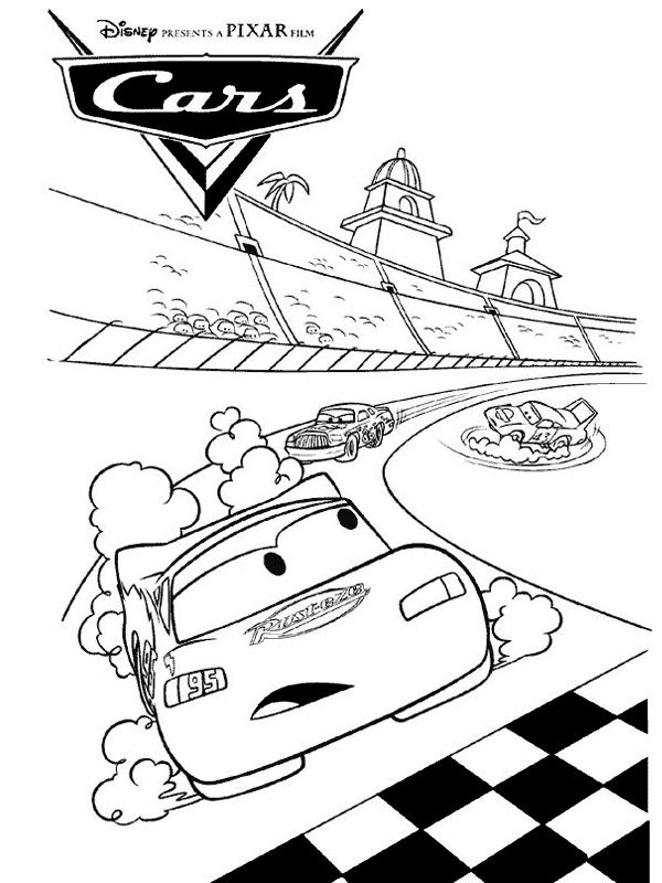 Dessin colorier de voiture flash mcqueen - Jeux de mcqueen gratuit ...