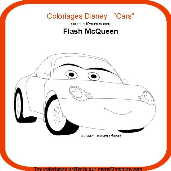 Coloriage dessiner flash mcqueen cars 2 - Dessin anime flash mcqueen ...