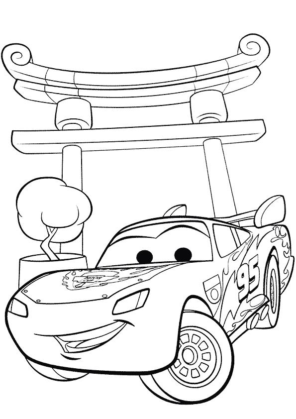Coloriage flash mcqueen imprimer - Jeu gratuit cars flash mcqueen ...