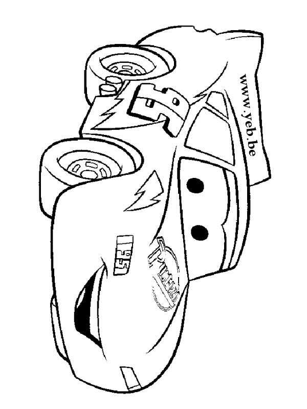 dessin flash mcqueen gratuit à imprimer