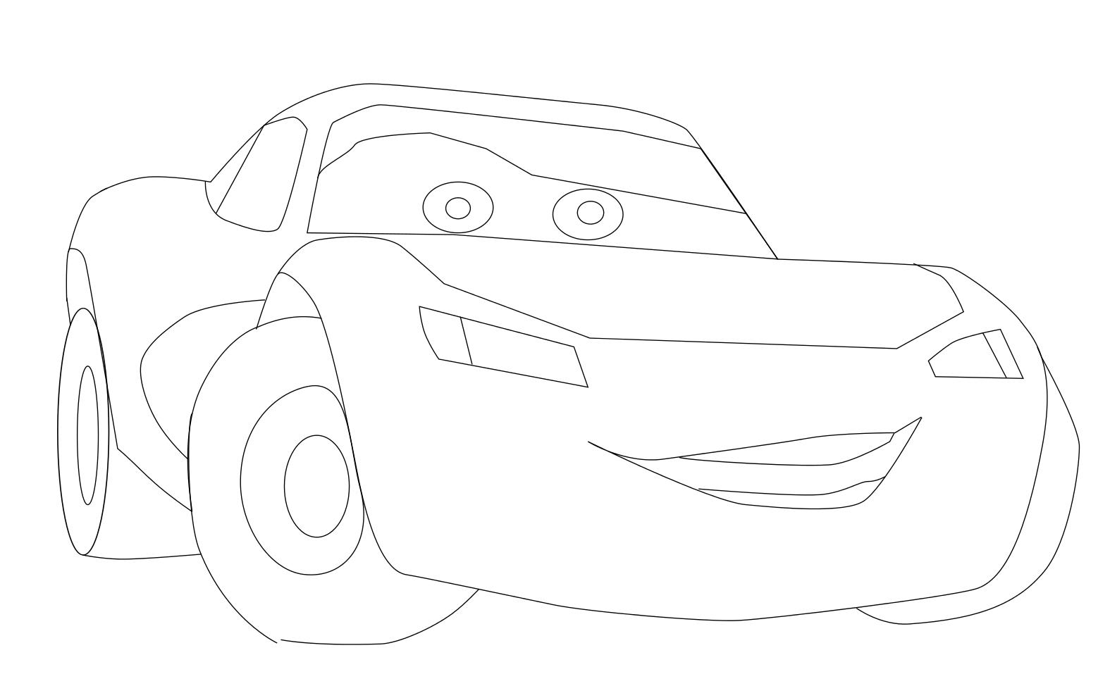 dessin à colorier de voiture flash mcqueen