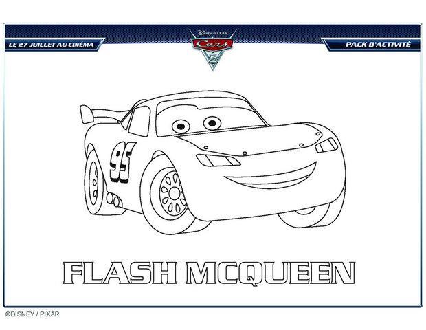 Coloriage dessiner voiture flash mcqueen en ligne - Jeu gratuit cars flash mcqueen ...