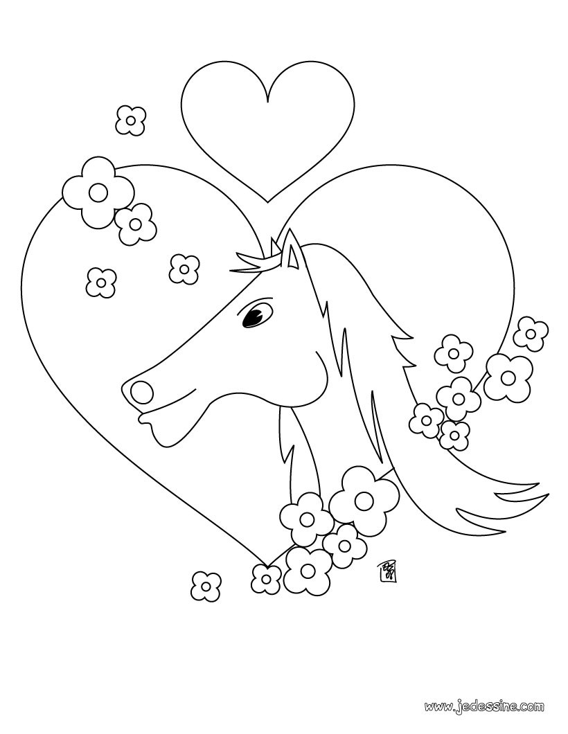 88 dessins de coloriage fleur coeur imprimer. Black Bedroom Furniture Sets. Home Design Ideas