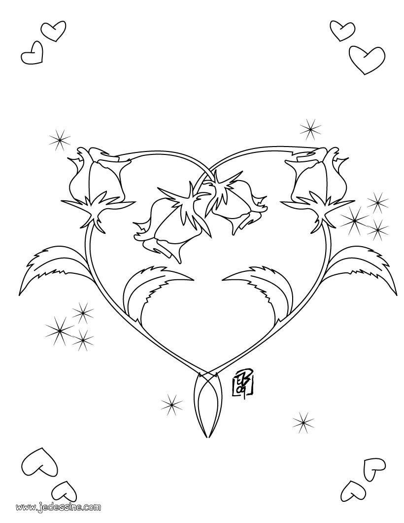 Coloriage Fleur Et Coeur A Imprimer.Coloriage Papillon Coeur Mcs 2018