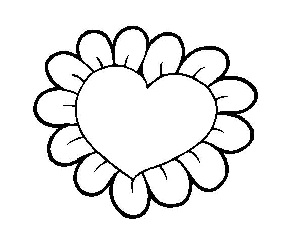 Dibujos De Corazones Coloridos: 88 Dessins De Coloriage Fleur Coeur à Imprimer