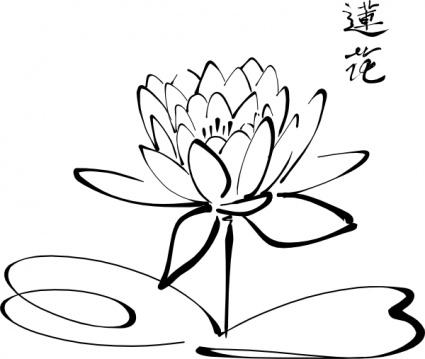 Fleur De Lotus à Colorier Idée D Image De Fleur