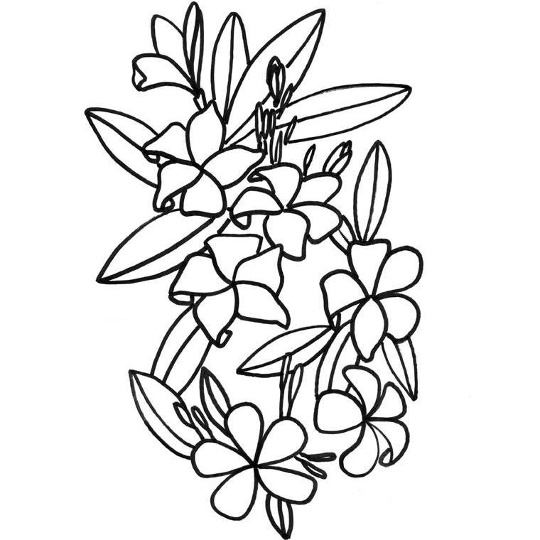 94 dessins de coloriage fleur de lys imprimer - Fleur coloriage a imprimer ...