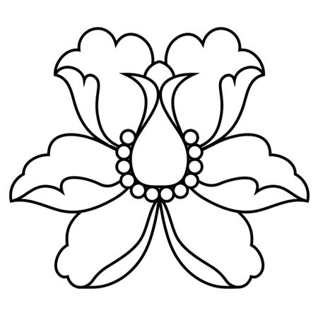 Fleur De Lotus A Colorier Idee D Image De Fleur