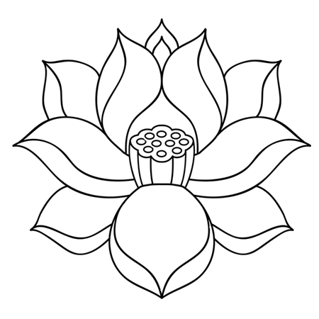 Fleur De Lotus Dessin Simple Fleur De Lotus