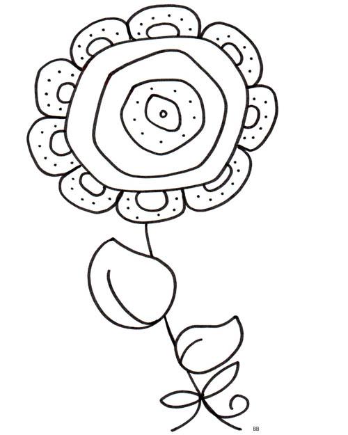 100 dessins de coloriage fleur facile imprimer - Dessin de fleur facile ...