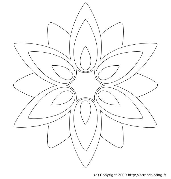 100 dessins de coloriage fleur facile imprimer - Coloriage fleur 8 petales ...