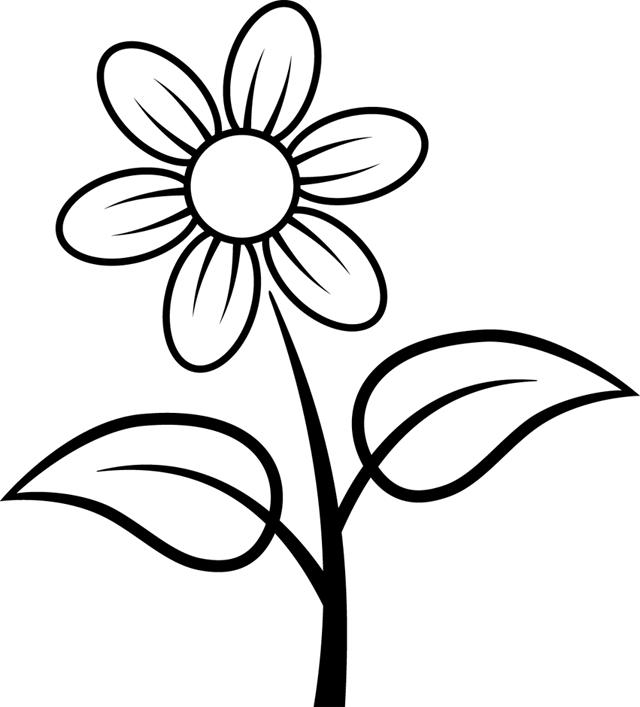 Coloriage dessiner fleurs en maternelle - Fleur en dessin ...