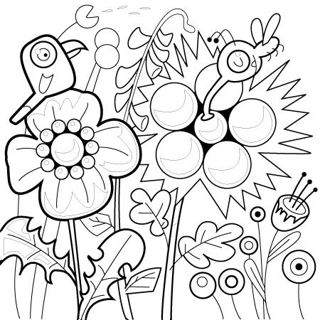 coloriage à dessiner fleur lotus