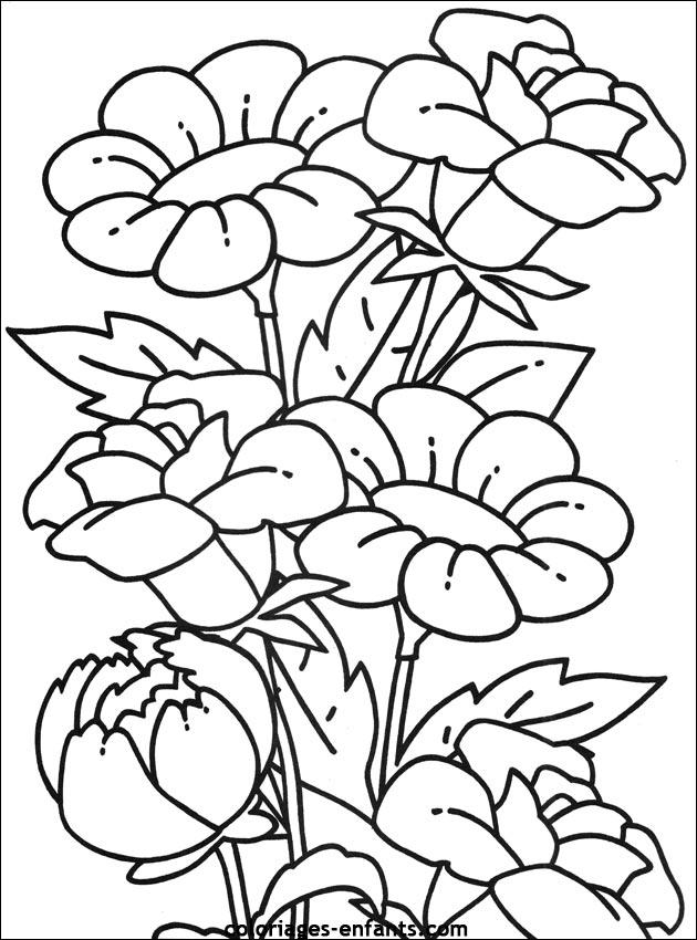 La Joconde A Colorier Portfolio Coloriage Bouquet Fleurs