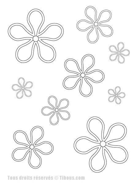 coloriage dessiner fleur facile. Black Bedroom Furniture Sets. Home Design Ideas