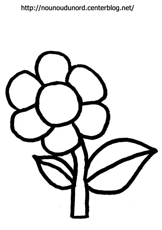 Dessin fleurs pour tout petit - Coloriage fleur de lys ...