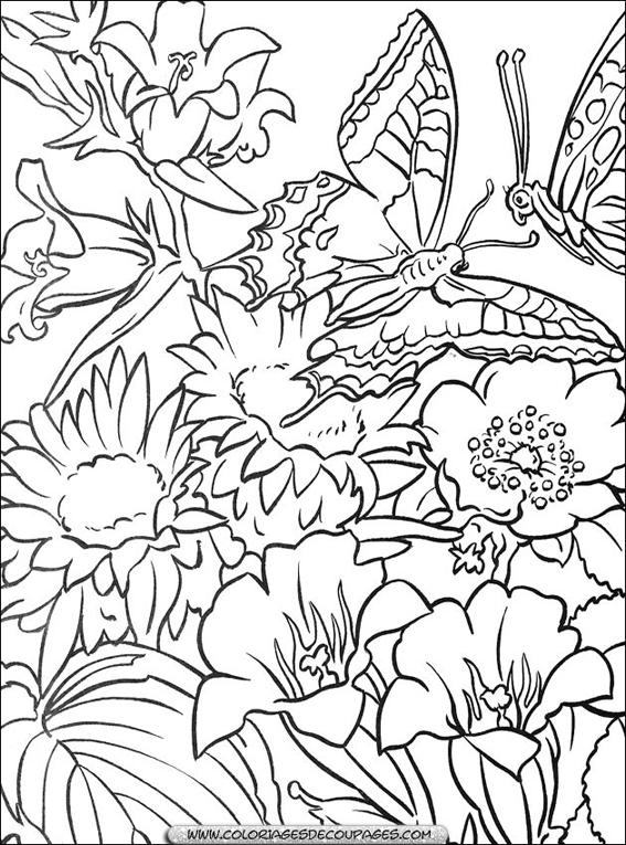 Coloriage fleurs gratuit en ligne - Fleur en dessin ...