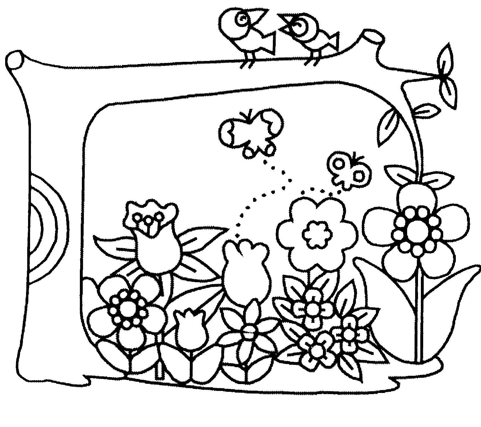 Coloriage fleur en pot - Coloriage fleur iris ...