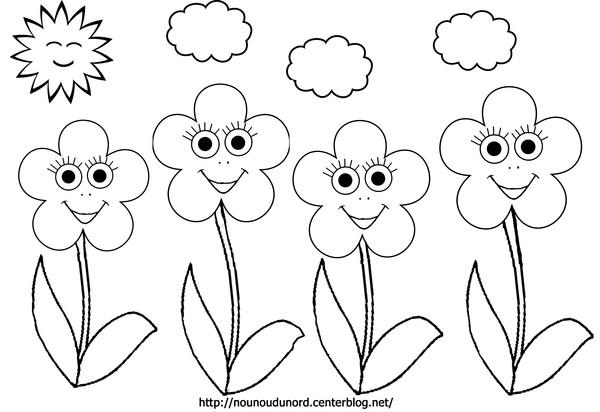 dessin ã colorier fleur simple a imprimer