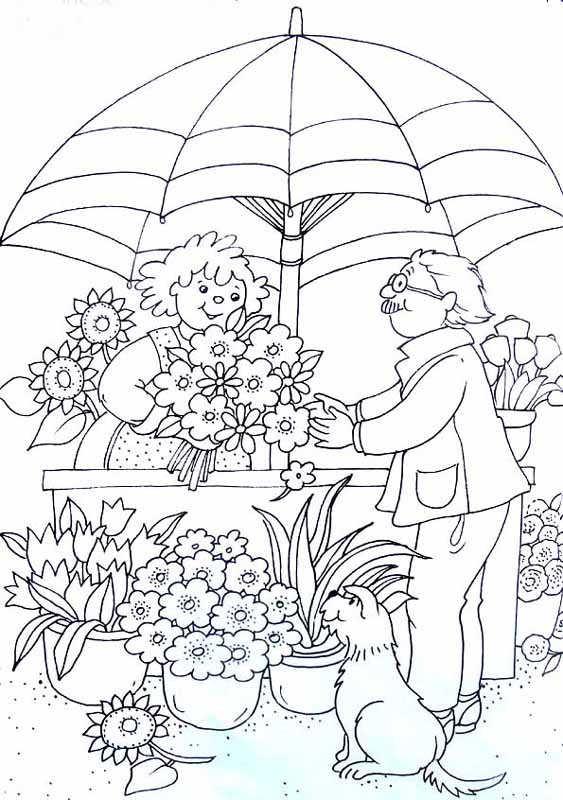 dessin fleuriste