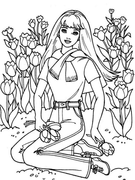 coloriage à dessiner imprimer fleuriste