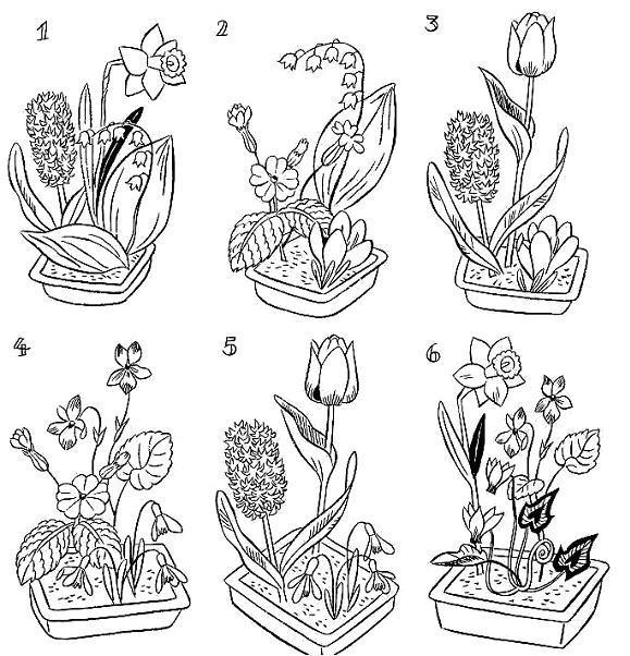 dessin à colorier metier fleuriste