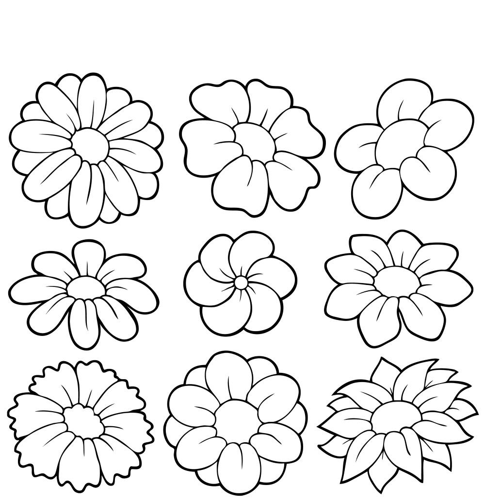 Elegant Coloriage De Fleurs A Imprimer Nouveau Coloriage De Fleurs A