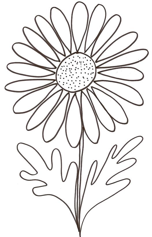95 dessins de coloriage fleurs d 39 t imprimer for Plante 3d gratuit