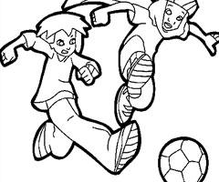 jeux de dessin à colorier de foot 2 rue gratuit
