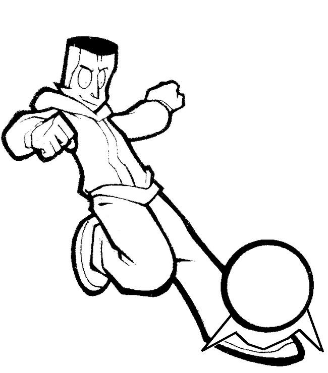 dessin à colorier foot 2 rue samira