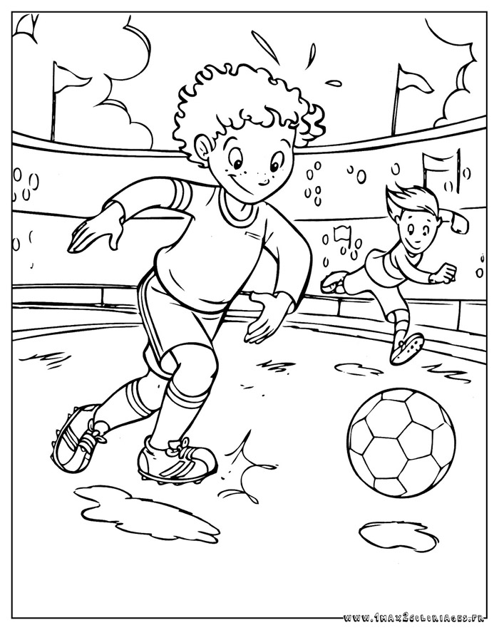 Coloriage joueur foot a imprimer - Image de joueur de foot a imprimer ...
