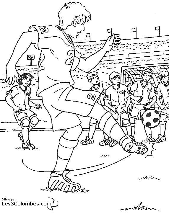 42 dessins de coloriage foot imprimer - Coloriage gardien de foot ...