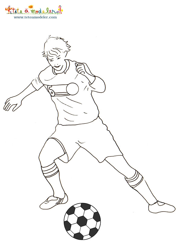 Coloriage Match De Football.42 Dessins De Coloriage Foot A Imprimer