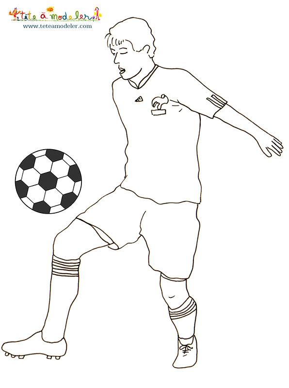 dessin � colorier football kaka