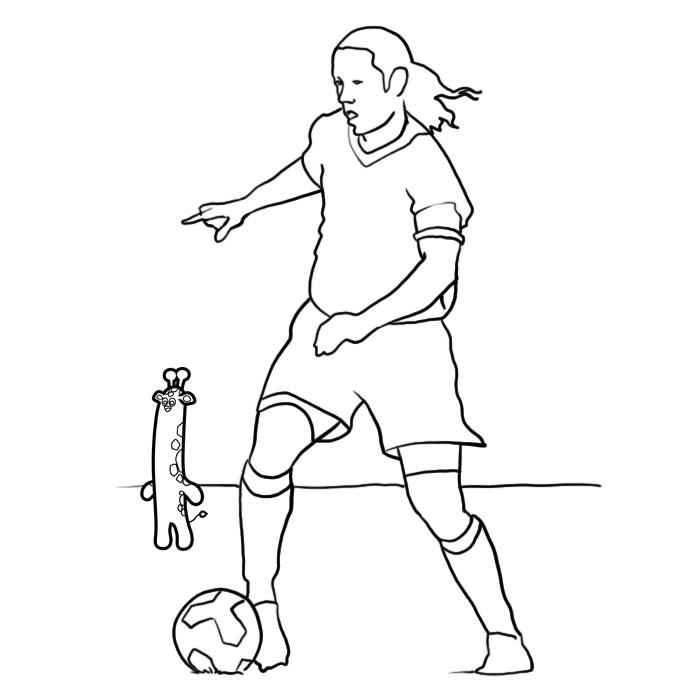 dessin � colorier theme foot
