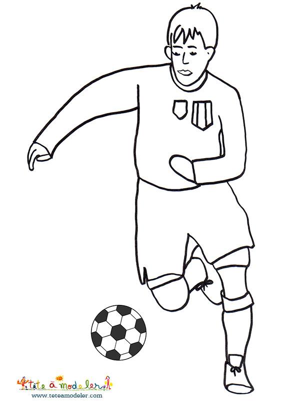 Coloriage En Ligne Joueur De Foot.42 Dessins De Coloriage Foot A Imprimer