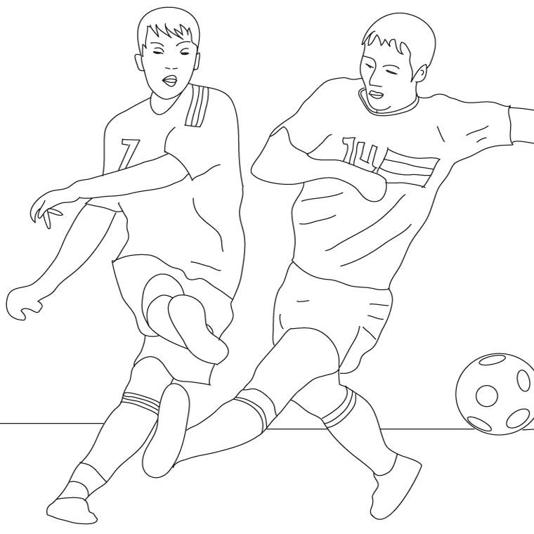 coloriage à dessiner foot psg imprimer