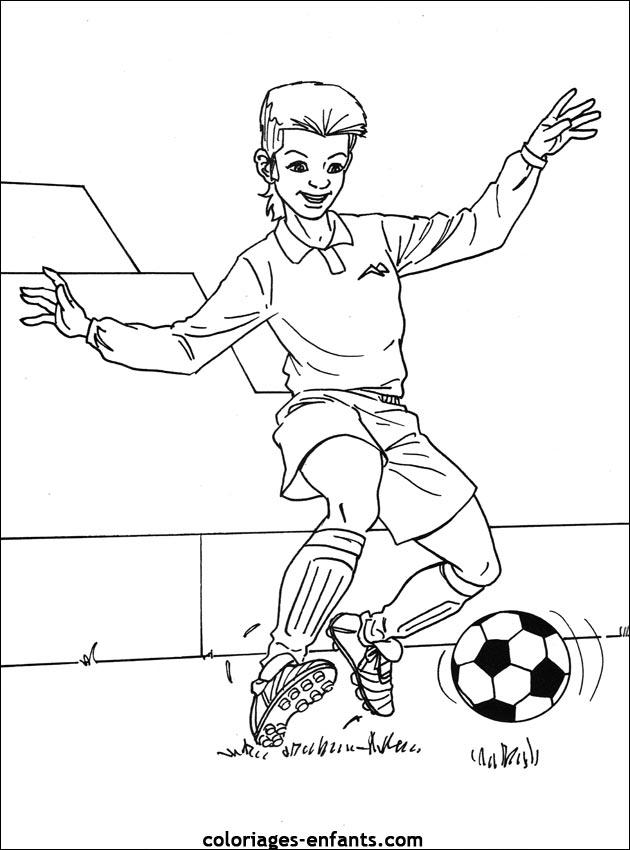 dessin à colorier football messi