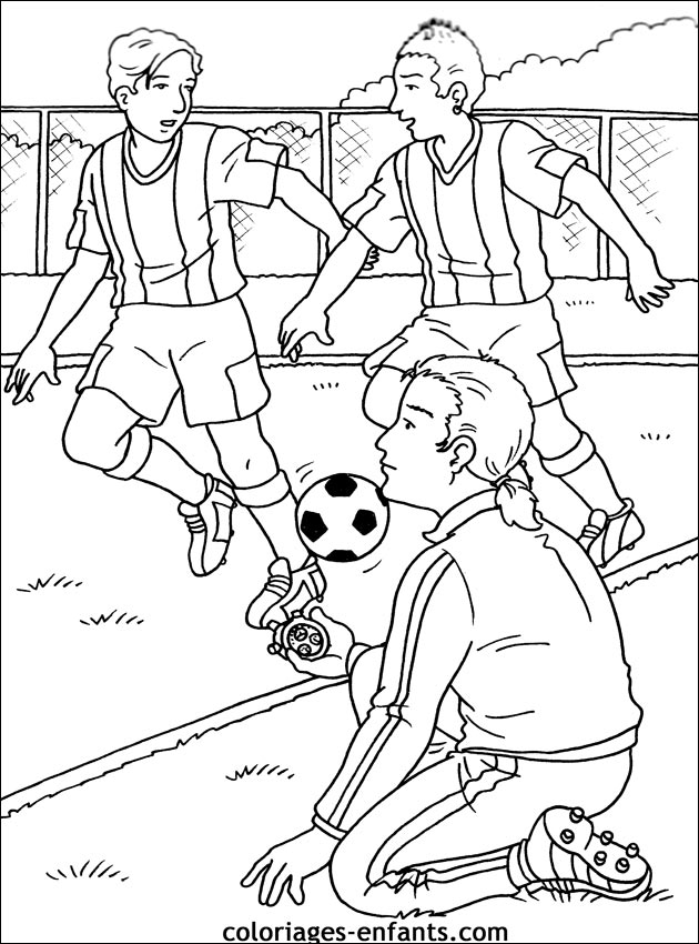 coloriage chaussure foot