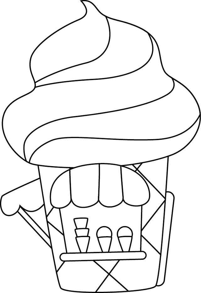 dessin à colorier manege fete foraine