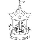 dessin � colorier stand fete foraine