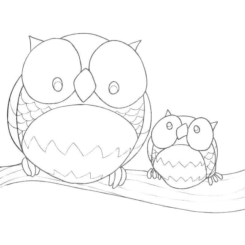 dessin à colorier mandala forêt
