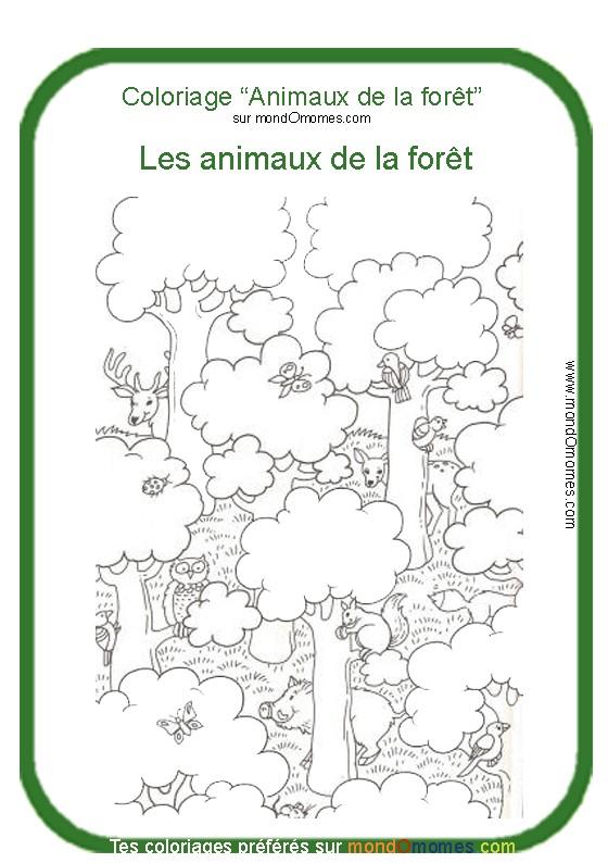 Coloriage Animaux Foret Maternelle.33 Dessins De Coloriage Foret A Imprimer