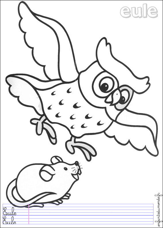 coloriage dessiner animaux fort maternelle