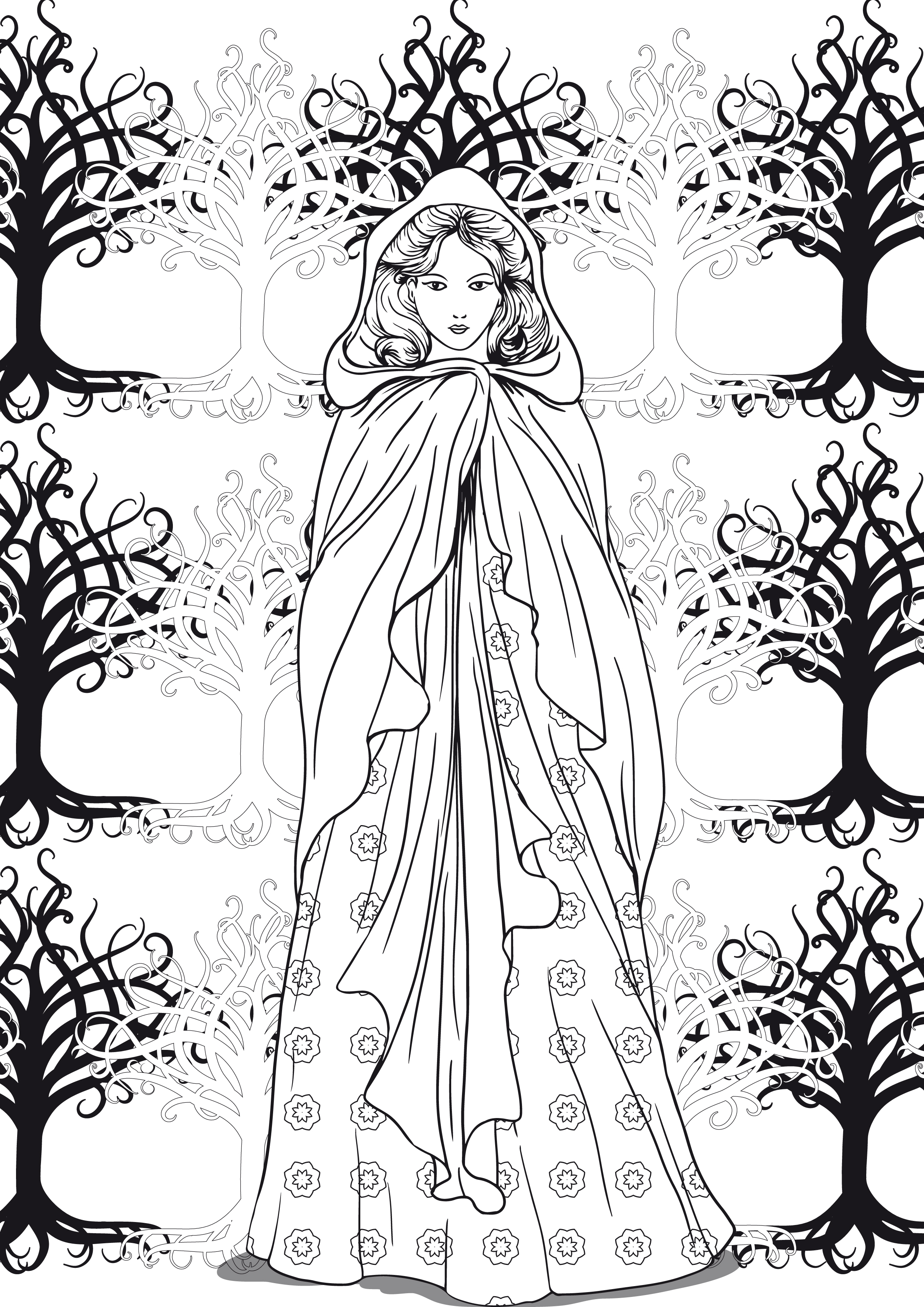 Coloriage art therapie foret feerique - Coloriage therapie ...